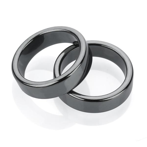 6mm Flat Hematite Ring