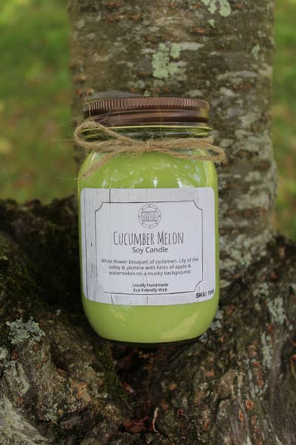 16 oz Cucumber Melon Soy Candle