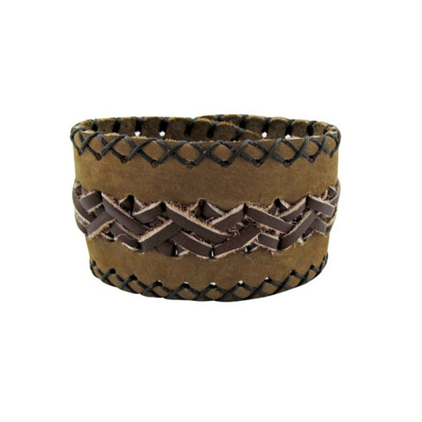 Suede & Leather Cuff