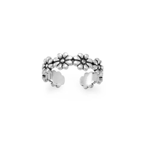 Sterling Flower Toe Ring