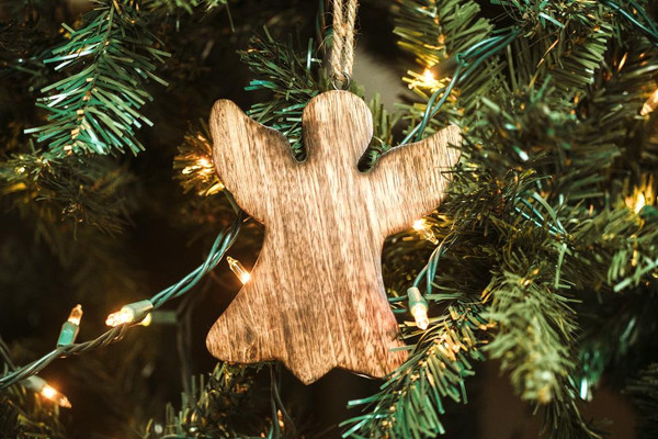 Wooden Angel Ornament