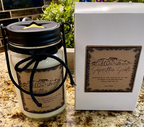 White Tea Handmade Soy Candle Beautiful Packaging
