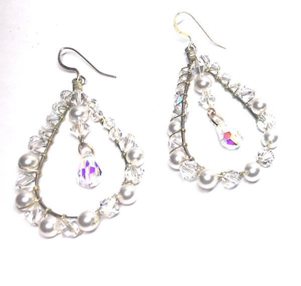 Swarovski Crystal Pear Shaped Dangle Earrings