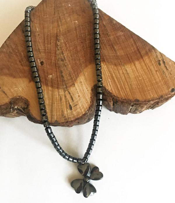 Dogwood Hematite Necklace