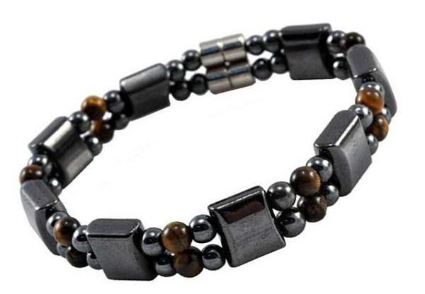 Men's Magnetic Hematite Tiger Eye Bracelet