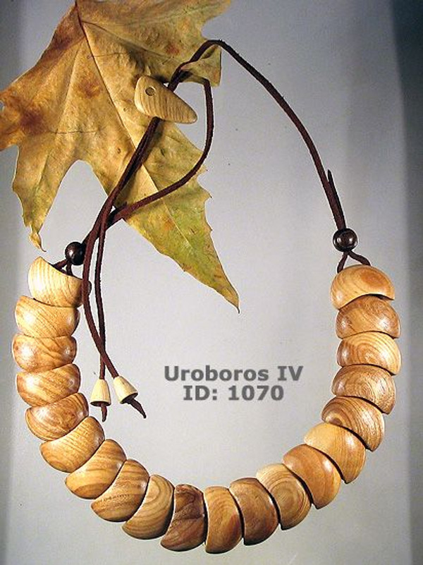 Uroboros (IV) Wooden Necklace