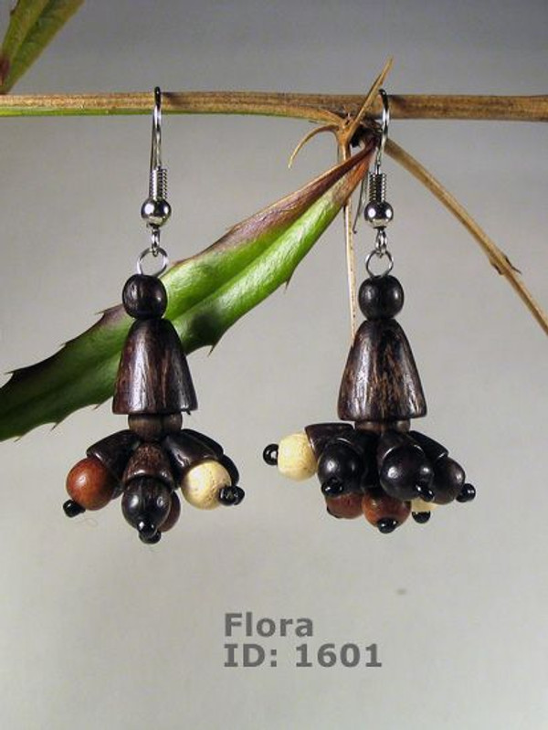 Flora Wooden Earrings