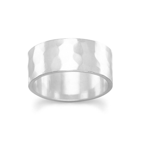 8mm Hammered Band Ring