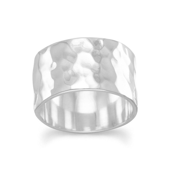 11mm Hammered Band Ring