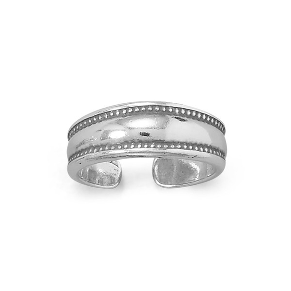 Dotted Edge Sterling Toe Ring