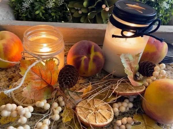 Just Peachy Handmade Soy Candle
