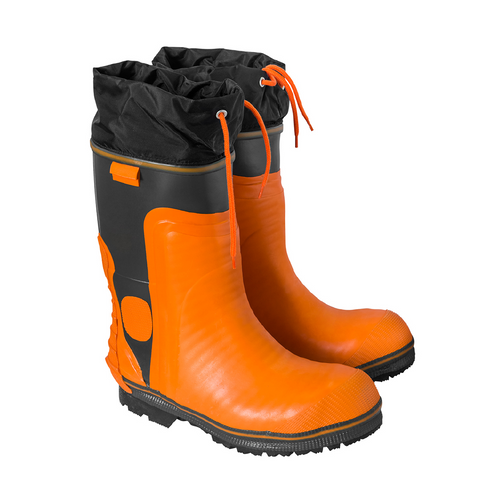 Orange Rubber Rigger Boot Size 8