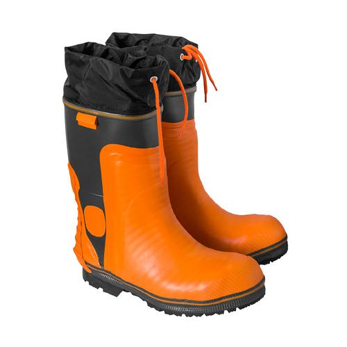 Orange Rubber Rigger Boot Size 9
