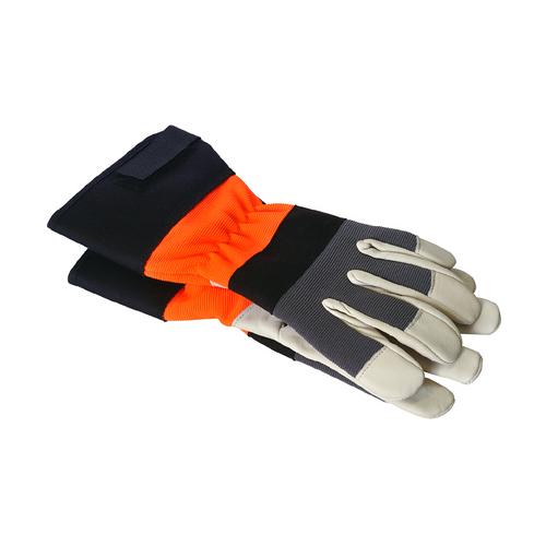 Builders Gloves Grey and Orange Large