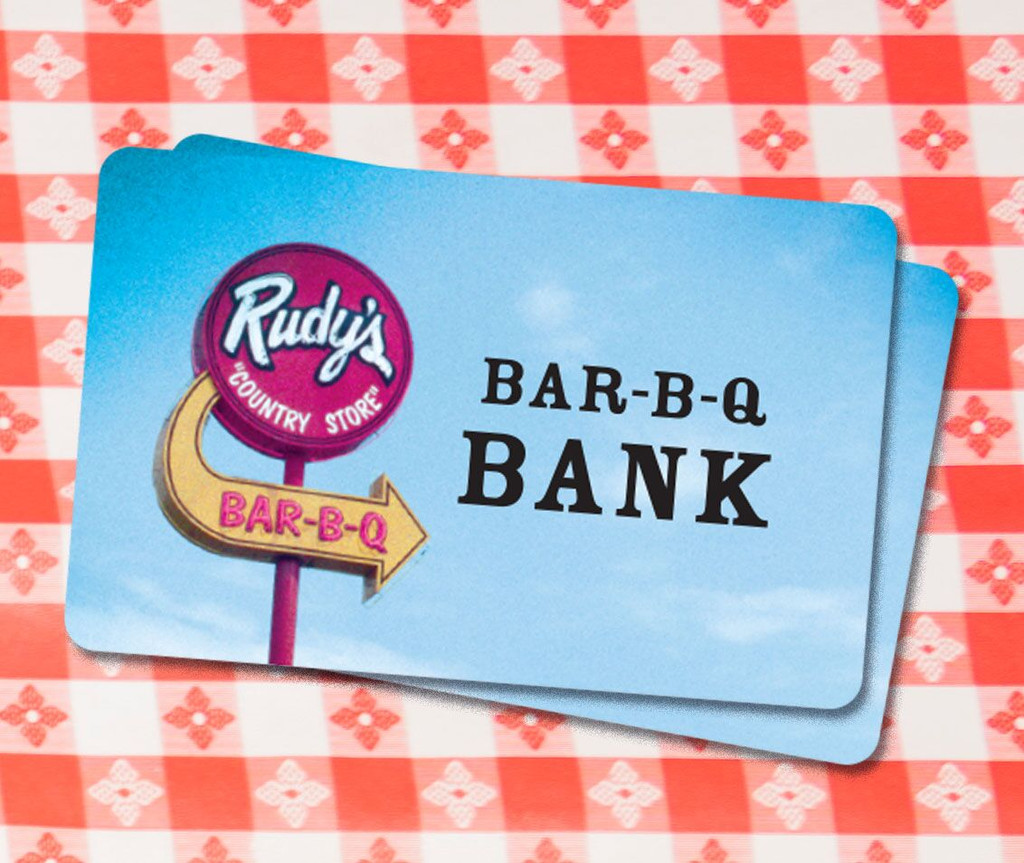 Rudy's Physical Gift Card ($5-$50)