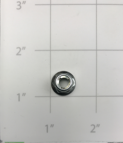 90-10130-00  -  NUT, FLANGED LOCKING ZINC M6 (COMPATIBLE WITH E250)