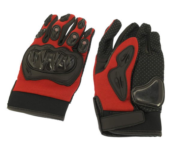 82-10002-00 Youth Racing Gloves (Medium) Red