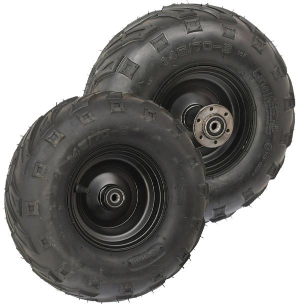 Mega Steel Wheel Combo (v-tread 145/70-6)