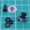 1 pair 1010 rail buttons - black