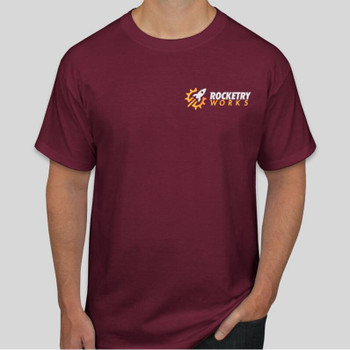 Rocketry Works T-shirt in Maroon