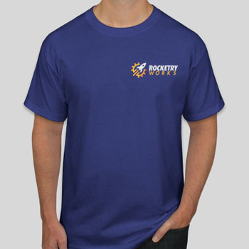 Rocketry Works T-shirt in Deep Royal