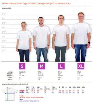 Hanes Comfort T Size Chart