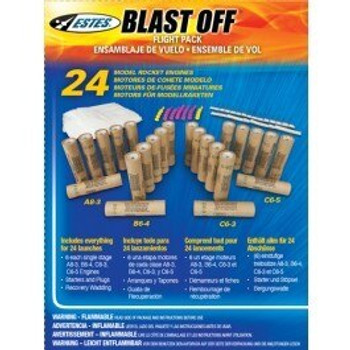 Estes Blast off Pack of 24 Assorted 18mm motors