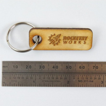 Rocketry Works Keychain with scale