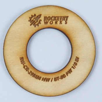 Rocketry Works 29mm Heavy Wall to 66mm (BT-80) Centering Ring