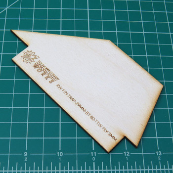 Plywood Trapezoidal Fins TTW fits 29mm in BT-80