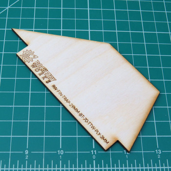 Plywood Trapezoidal Fins TTW fits 29mm in BT-70