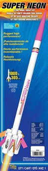 Super Neon Model Rocket Packaging