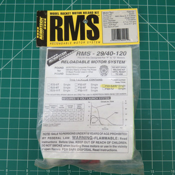 F22-5J Model Rocket RMS Reloadable Motor