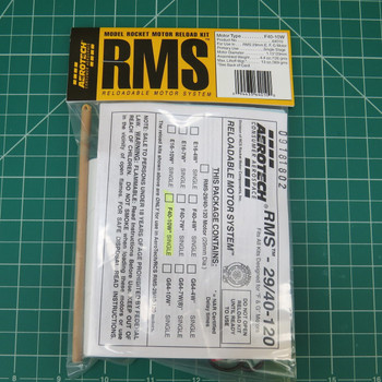 F40-10W Model Rocket RMS Reloadable Motor