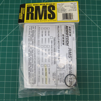 G64-7W Model Rocket RMS Reloadable Motor