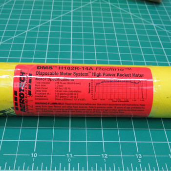 H182R-14A DMS High Power Single Use Motor Label