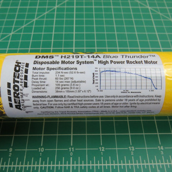 H219T-14A DMS High Power Single Use Motor Specifications