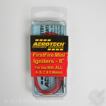 3 pack of Aerotech's First Fire Mini igniters for A, B, C, and D power composite motors
