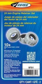 Estes 24mm Plastic Motor Retainer packaging