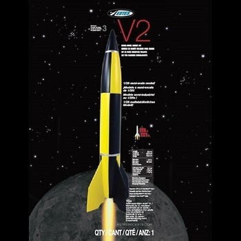 Estes V2 2.6-inch diameter semi-scale model rocket packaging