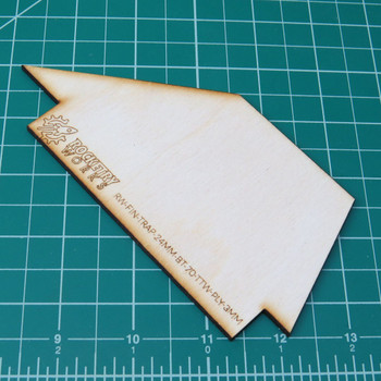 Plywood Trapezoidal Fins TTW fits 24mm in BT-70