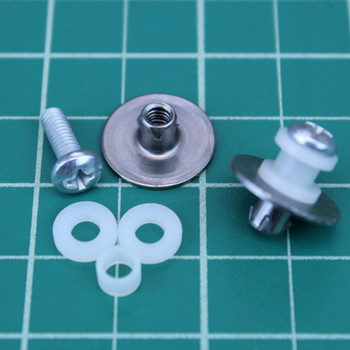 1 pair 1010 rail buttons - white