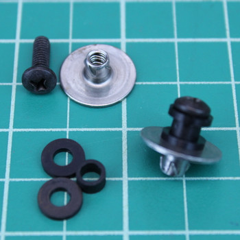 1 pair 1010 rail buttons - black