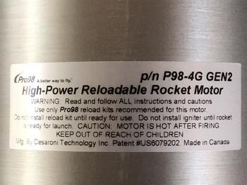 CTI 98mm 4 grain reloadable motor case