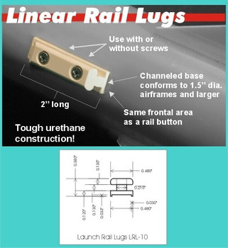 PML 1010 Conformal Rail Guides for 1.5 inch tubes and larger