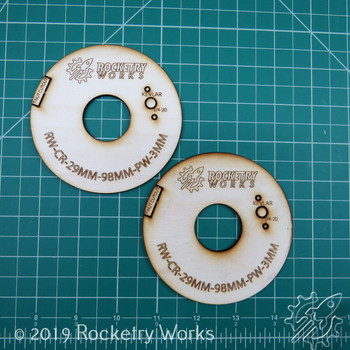 Rocketry Works custom plywood centering rings