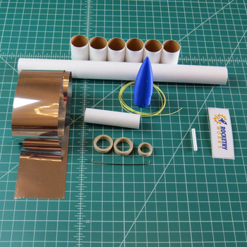 Toobish model rocket kit components