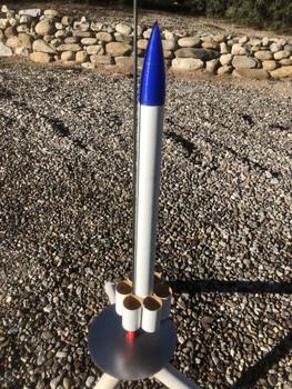 Toobish model rocket on launch pad