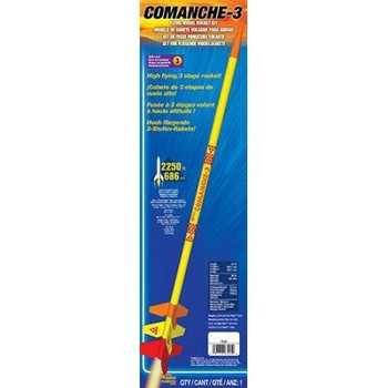 Comanche-3 Model Rocket packaging