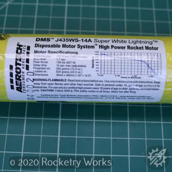 J435WS-14A DMS High Power Single Use Motor Label